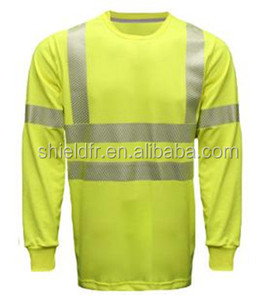 Black Blue Hi Vis Safety Reflective Work Button Shirts