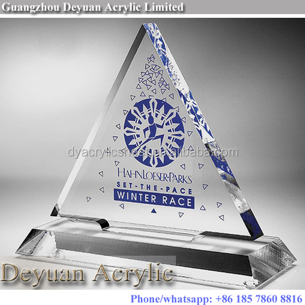 Custom acrylic awards and plaques trophy engraving clear or solid color