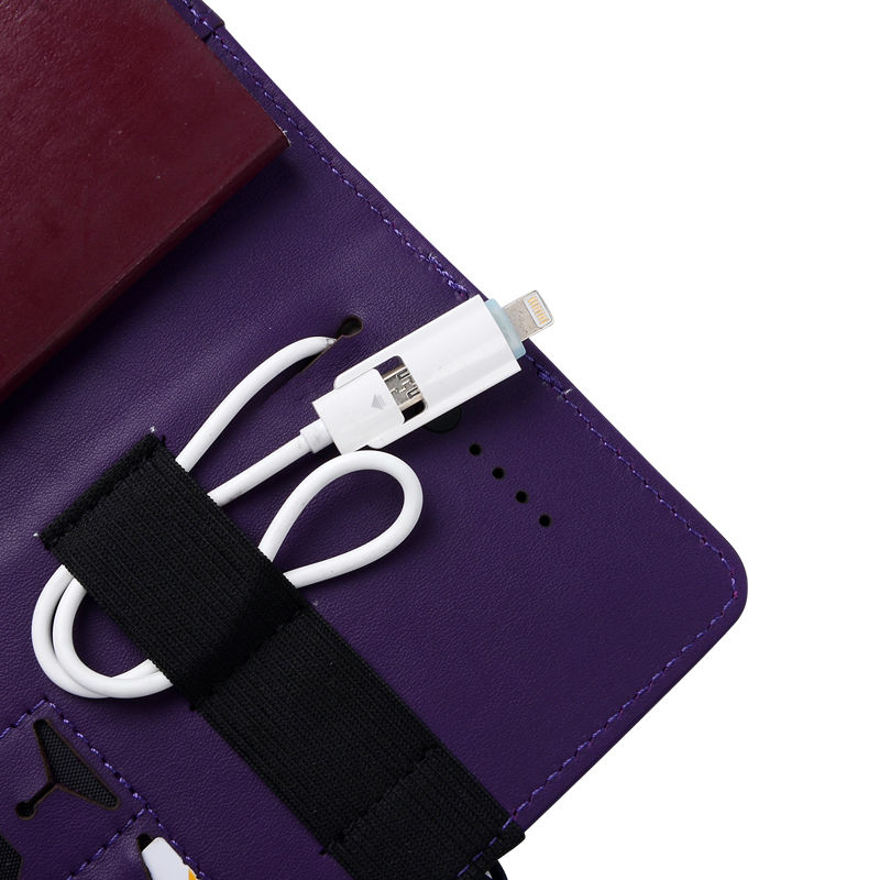 Passport Holder with 3000mAh Portable Charger Pack New Design durable Passport Cover Genuine Leather Travel Accessories