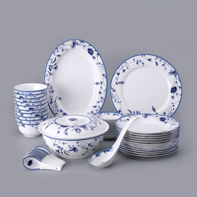 die alten maker geschirr jingdezhen blauen und wei en keramik bone china geschirr glasierte. Black Bedroom Furniture Sets. Home Design Ideas