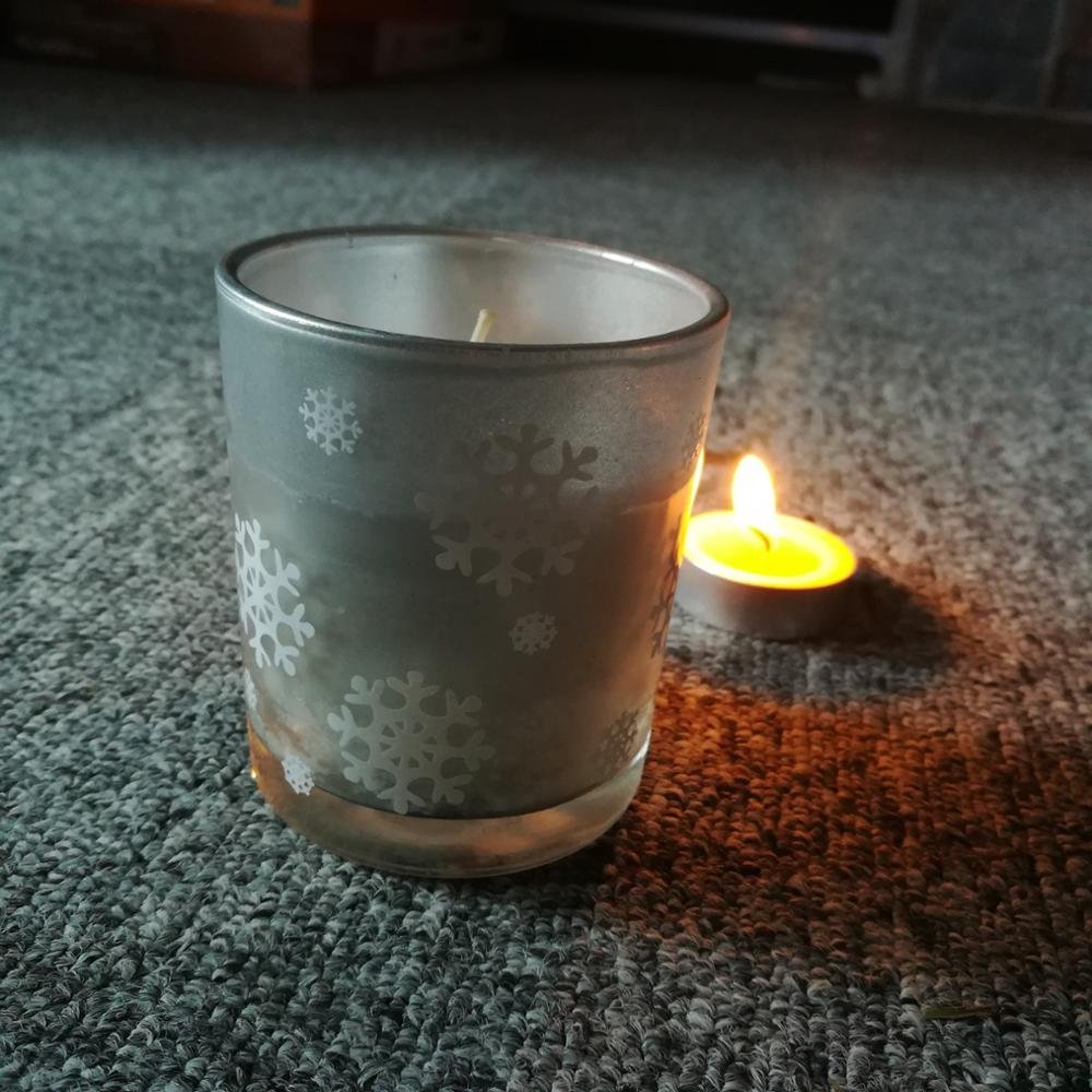 Big scented milk 1% paraffin wax good quality glass jar decorative candles gift