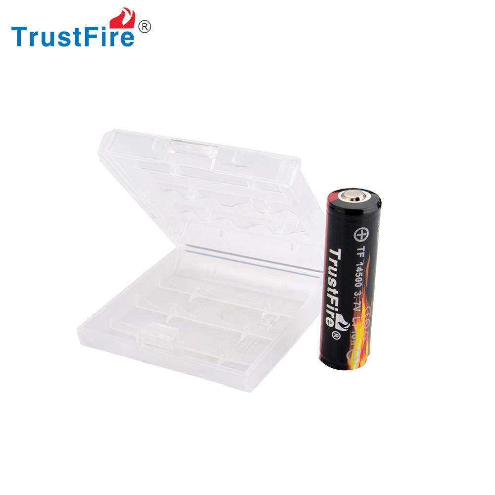 trustfire wiederaufladbare lithium 14500 akku li ion 3 7 v. Black Bedroom Furniture Sets. Home Design Ideas