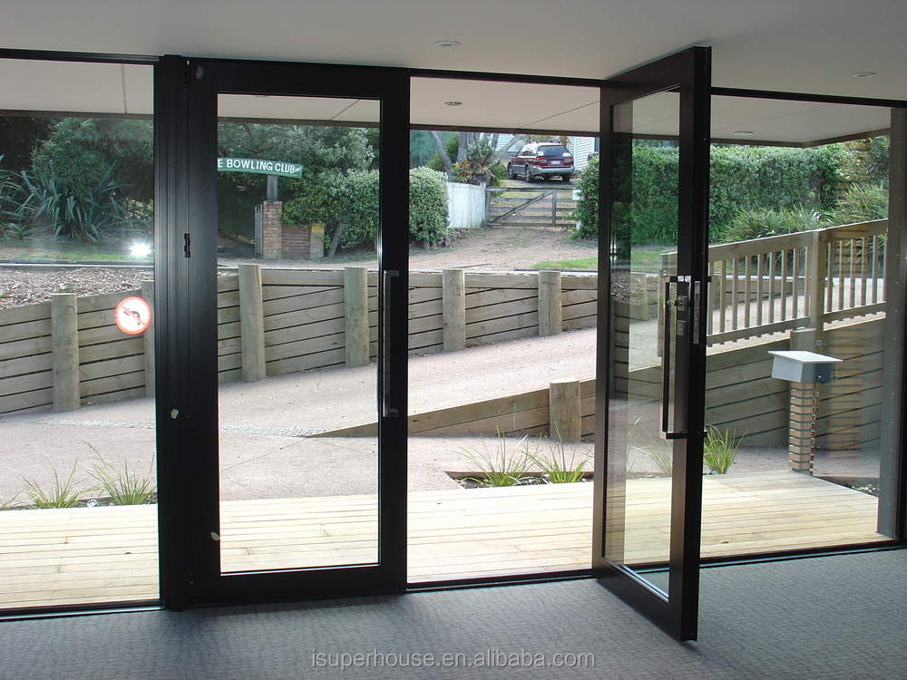 Australian as2047 standards modern front double glazed for Aluminium french doors