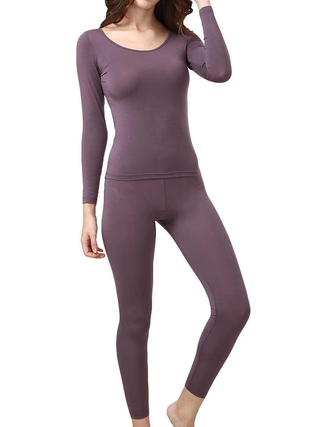 Get Quotations · Dramaticbuying Women s Lightweight Thermal Underwear Long  John Set Base Layer Top and Bottom 2d03c6aab