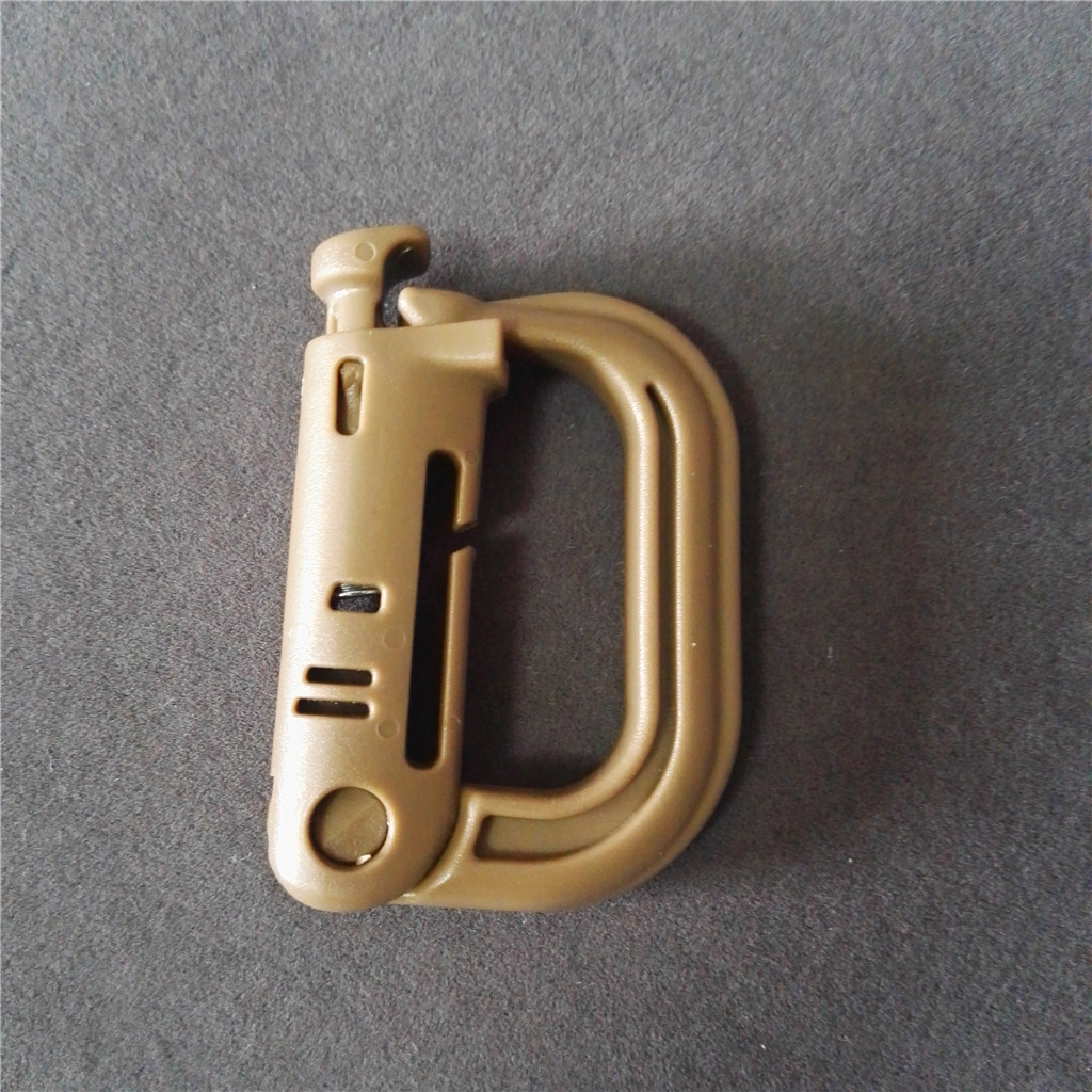 Plastic D shape Tactical Backpack EDC Shackle Carabiner Snap