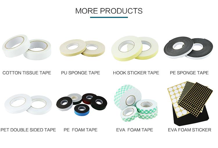Fuerza industrial adhesivo impermeable sostenible fácil lágrima de oficina tejido cinta de doble cara con pegamento caliente