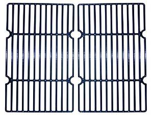 Music City Metals 69602 Gloss Cast Iron Cooking Grid Replacement for Gas Grill Model Master Forge MFJ810CSB, Set of 2 by Music City Metals