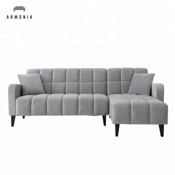 L Art Grosse Chaiselongue Blau Einfache Wohnzimmer Sofagarnitur Set
