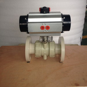 strict quality flange plastic pph ball valve with pneumatic actuator