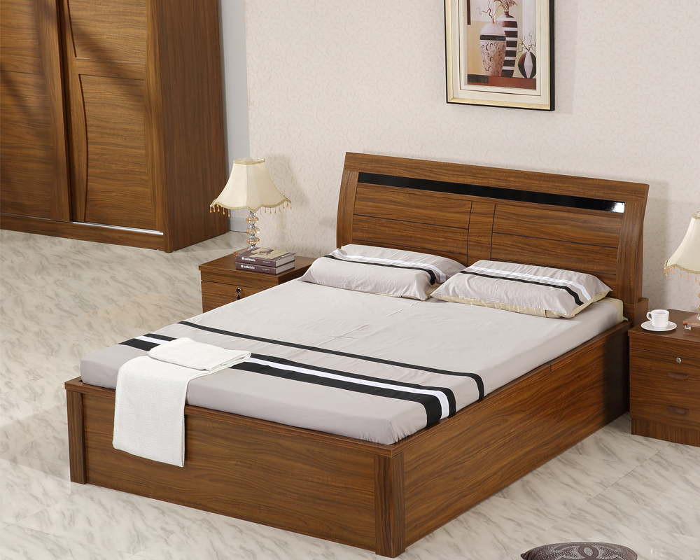 Mdf home furniture 1 5 1 8 meter bed nightstands bedroom sets