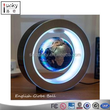 Inch Magnetic Levitation Floating Globe Map Wled Light Home - Home magnetics us map