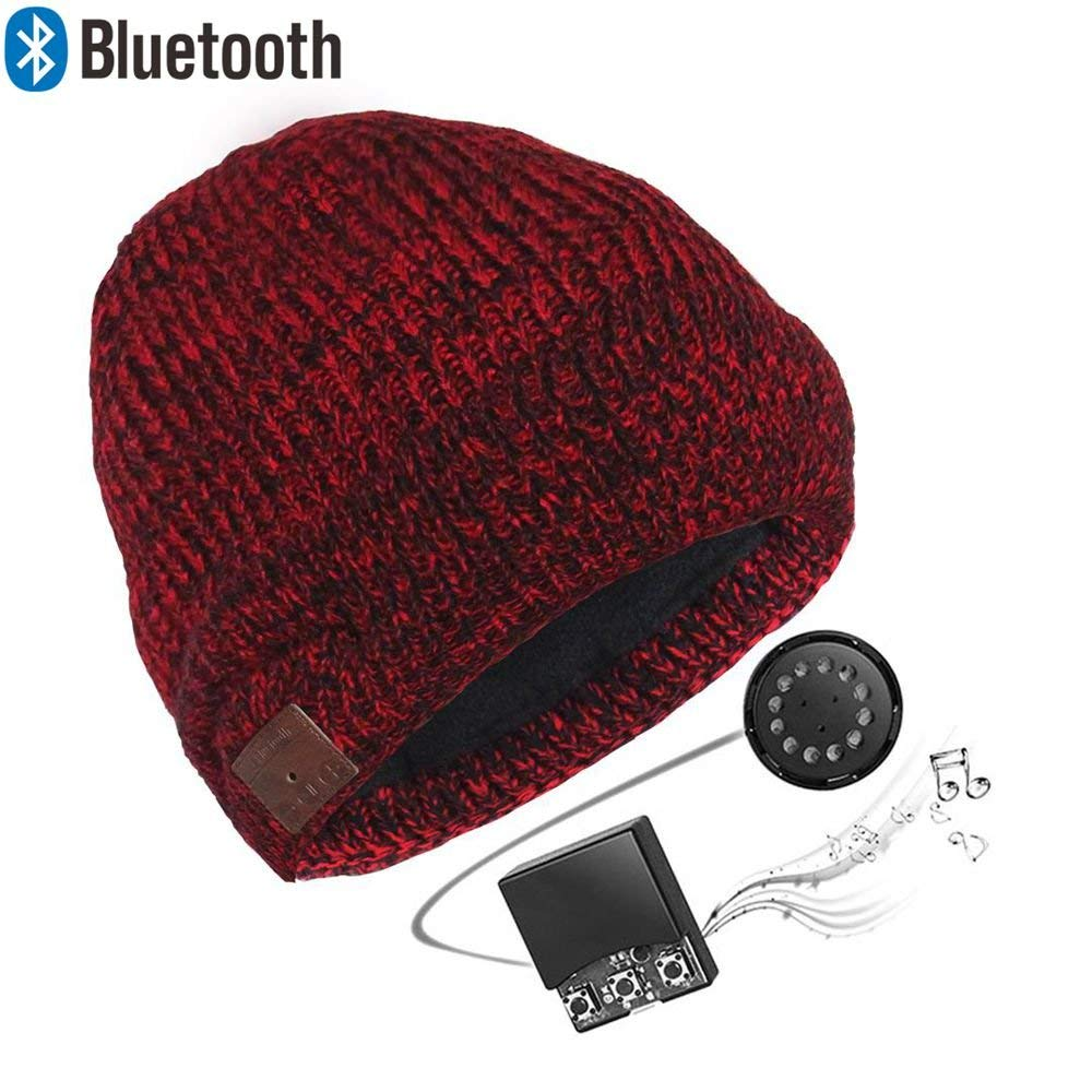 16383801828 Get Quotations · Zibaar Bluetooth Hat Bluetooth Beanie Bluetooth Headphone  Hat Wireless Beanie Hat with Removable Bluetooth Headset and