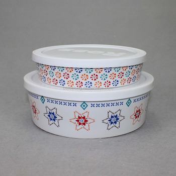 Signature Housewares Ceramic Storage Bowl Lid Set Of 2 Buy