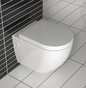 B2376 CE sanitary ware bathroom wc bowl use conceal cistern Wall hung Rimless toilet