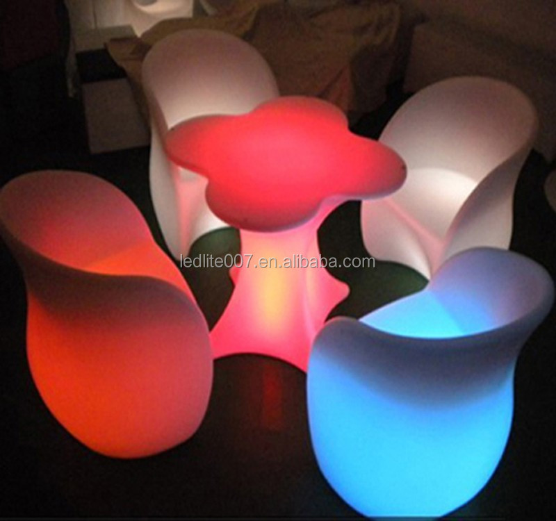 led color changing table lamp outdoor waterproof led bar furniture/led illuminated plastic furniture for event party