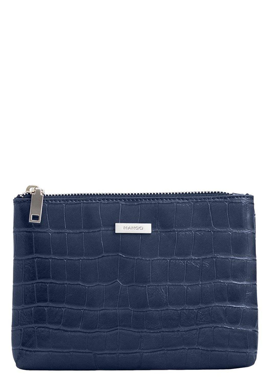 784d02a64d18 Get Quotations · Mango Women s Croc-Effect Cosmetic Bag