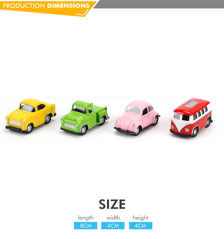 Hot selling pull back function kids toy vehicle diecast model bus