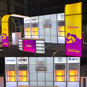 Detian offer portable back-lit 10 by 20 arch trade show stand exhibition expo booth design