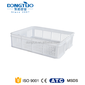 Customized bread plastic crate for sale, high quality plastic mesh crate
