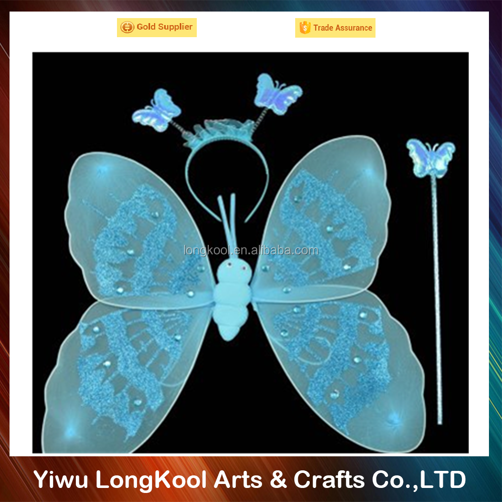 High quality cheap price wholesale kids carnival fairy wings beautiful butterfly wings for party decoration