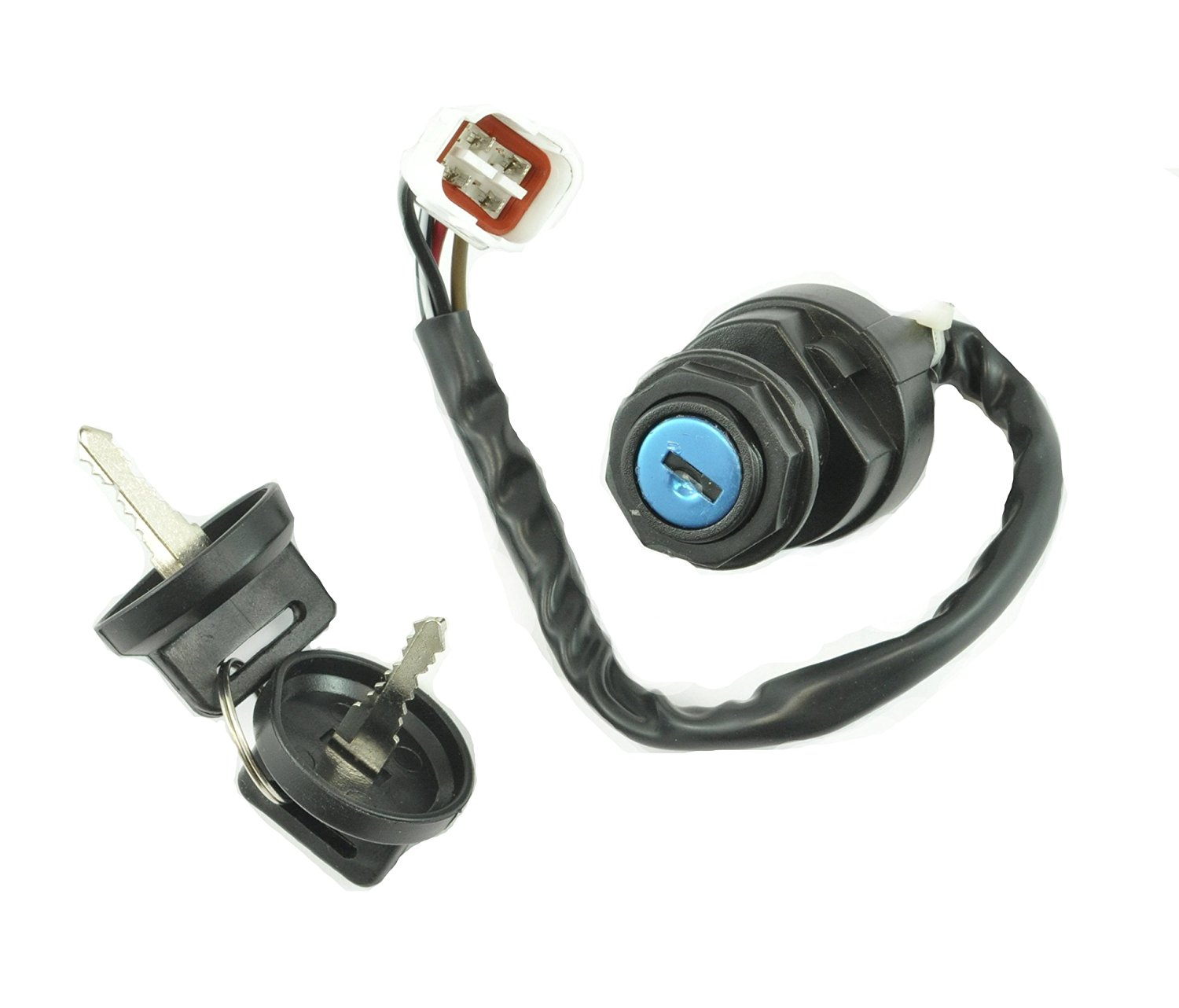 Two Position Ignition Key Switch For Yamaha Big Bear Warrior Wolverine Kodiak Grizzly Banshee 250 350 400 600 1993-2008 OEM Repl.# 4BD-82510-10-00 4GB-82510-00-00 4GB-82510-10-00 3GG-82510-00-00