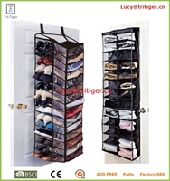 OVER DOOR SHOE HANGING RACK 26 30 PAIR STORAGE ORGANIZER FOLDING SHELF HOLDER