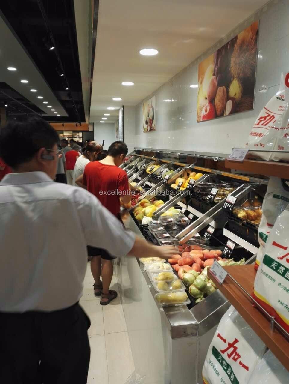 Fruits Refrigerator Upright Open Supermarket Fridges for Display