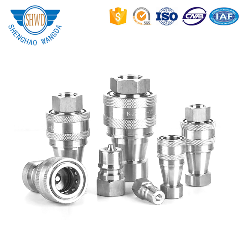 Stainless steel Hydraulic quick coupler/ quick joint/ quick release coupling