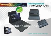 CE,FCC,ROHS For Motorola Xoom bluetooth keyboard set with leather case