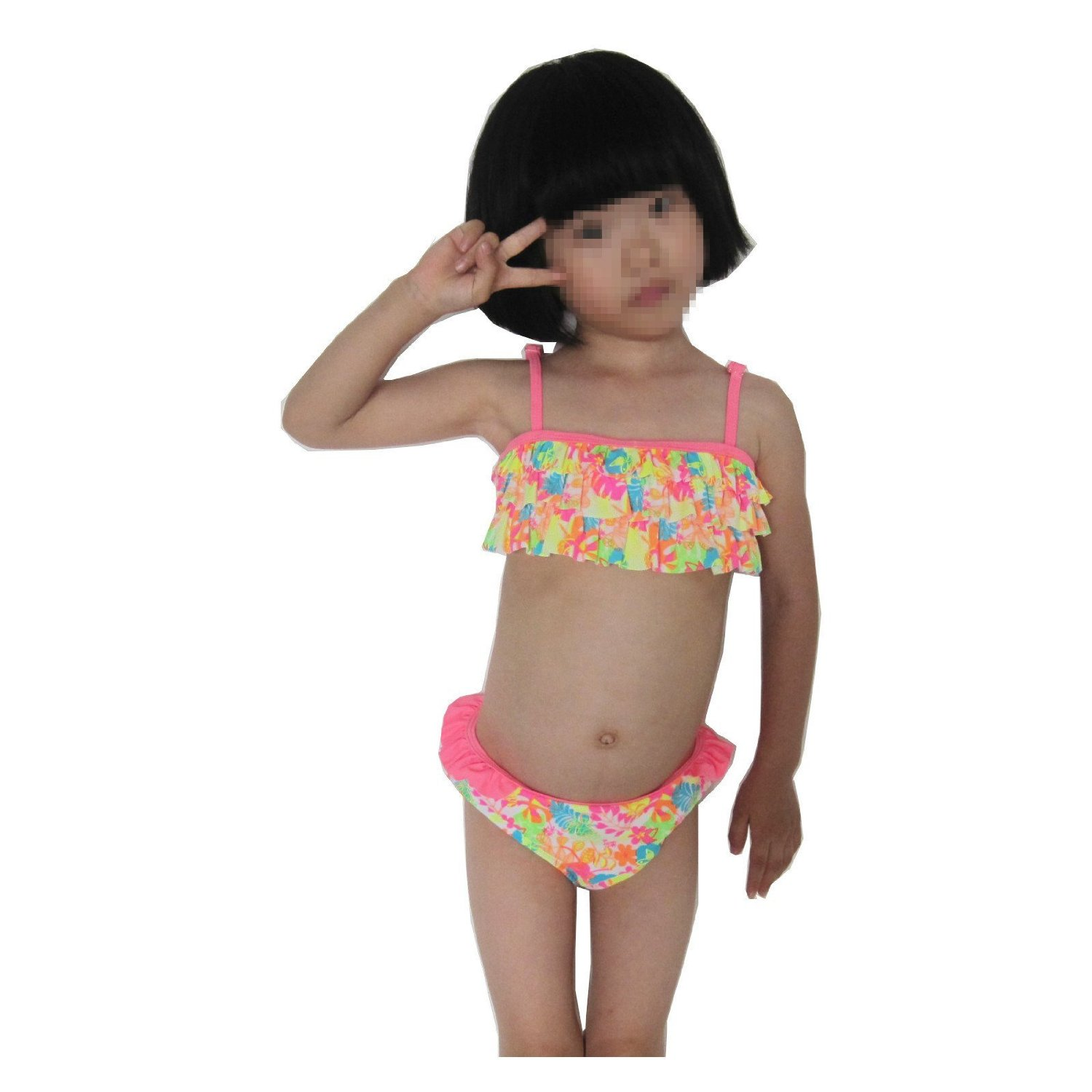 1f9212e9ef16c Get Quotations · Oustore Middle Girls' Tankini One Piece Swimsuit One  Shoulder Swimwear,2 Piece Bikini Flower