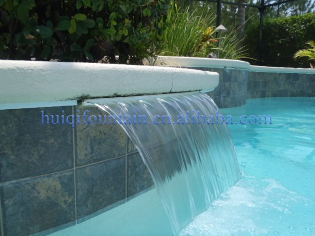 Colorful villa indoor decorative waterfall wall fountain for Garden pool fountains