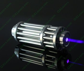 OXLasers OX-BX1 The Most Powerfull Gatling 450nm 4000mW 4Watt focusable blue lazer pointer burn mtaches at 7meters burn paper
