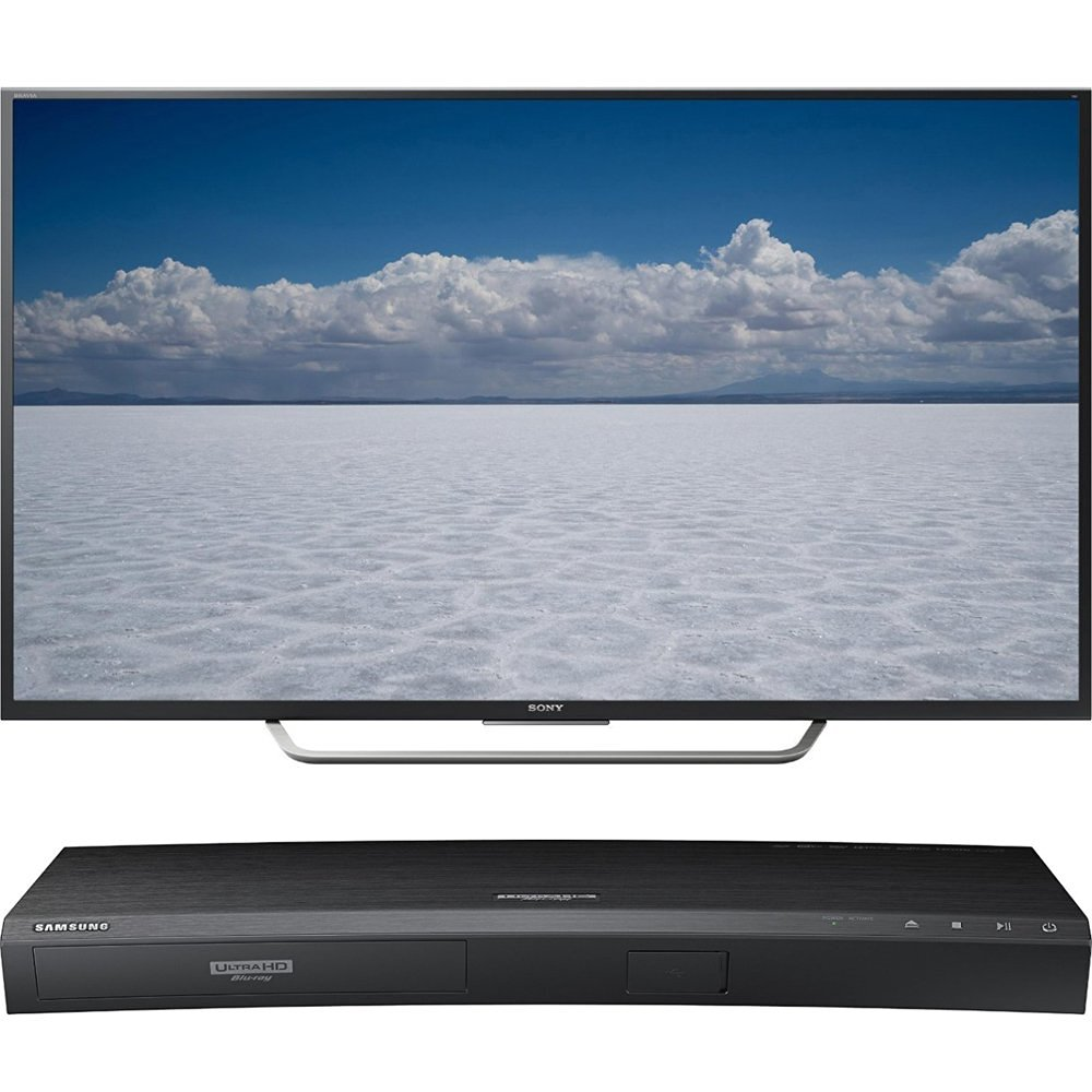 "Sony 65"" Class 4K Ultra HD TV (XBR-65X750D) with Samsung 3D Wi-Fi 4K Ultra HD Blu-ray Disc Player"