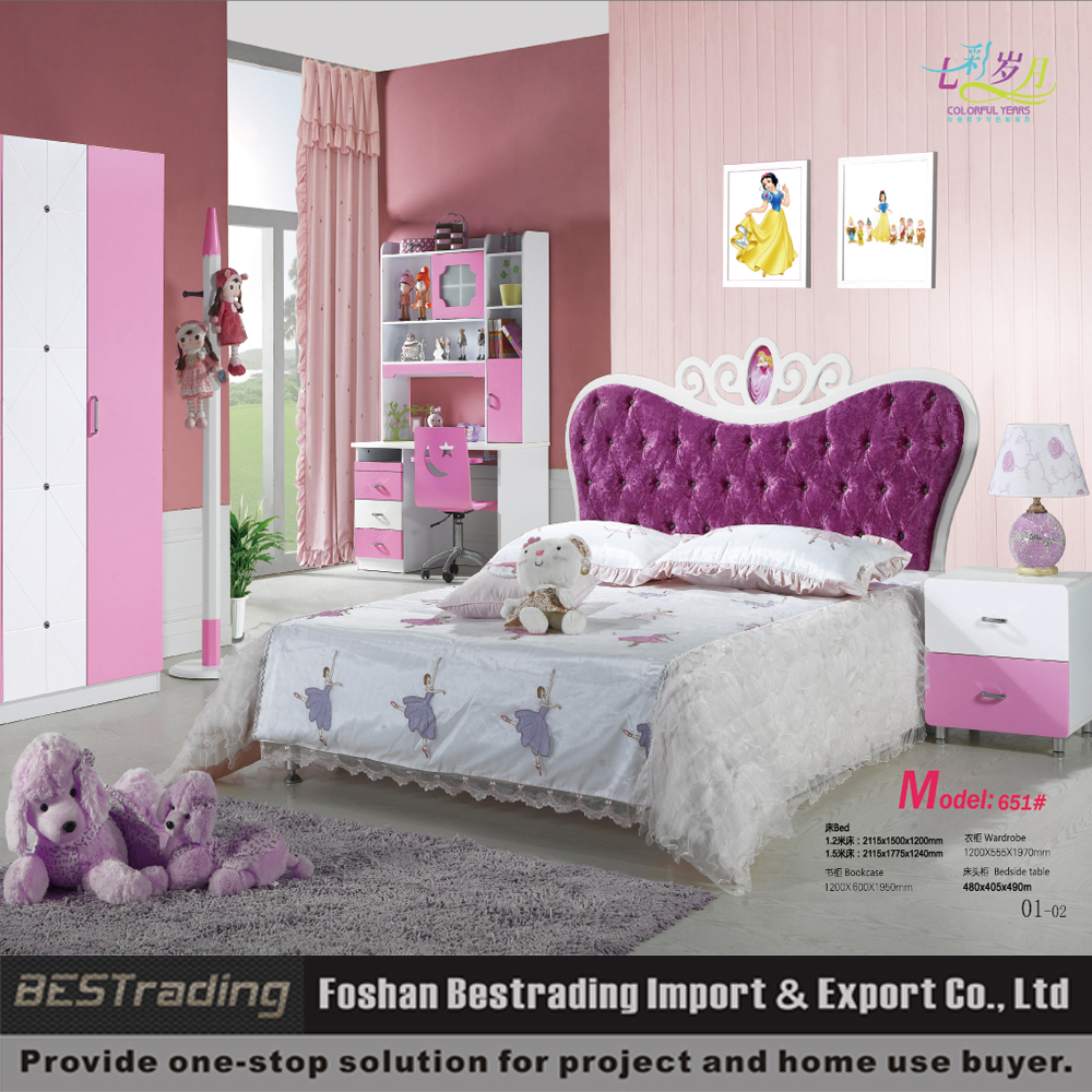 Korean Bedroom Furniture Wholesale Wholesale Korean Style Mdf Princess Girls Bedroom Set