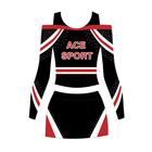 Alta Qualidade Metálico strass Cheer uniformes cheerleading roupas