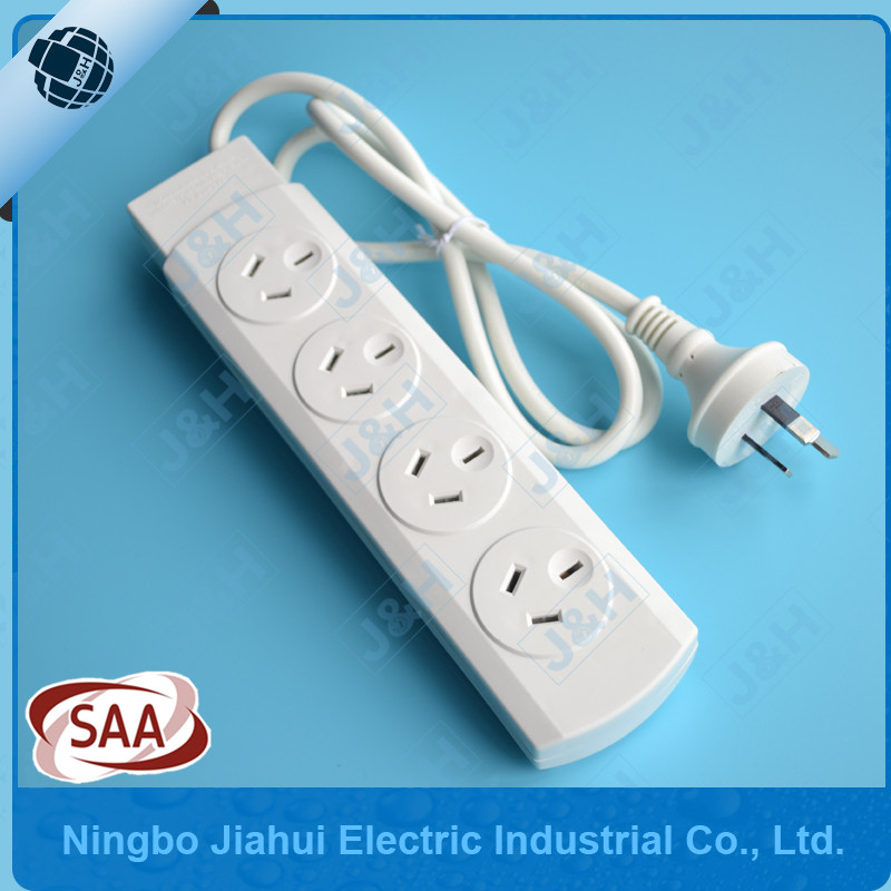 Australia standard 4 outlet power board individual switched with 1.5M cable JH-04