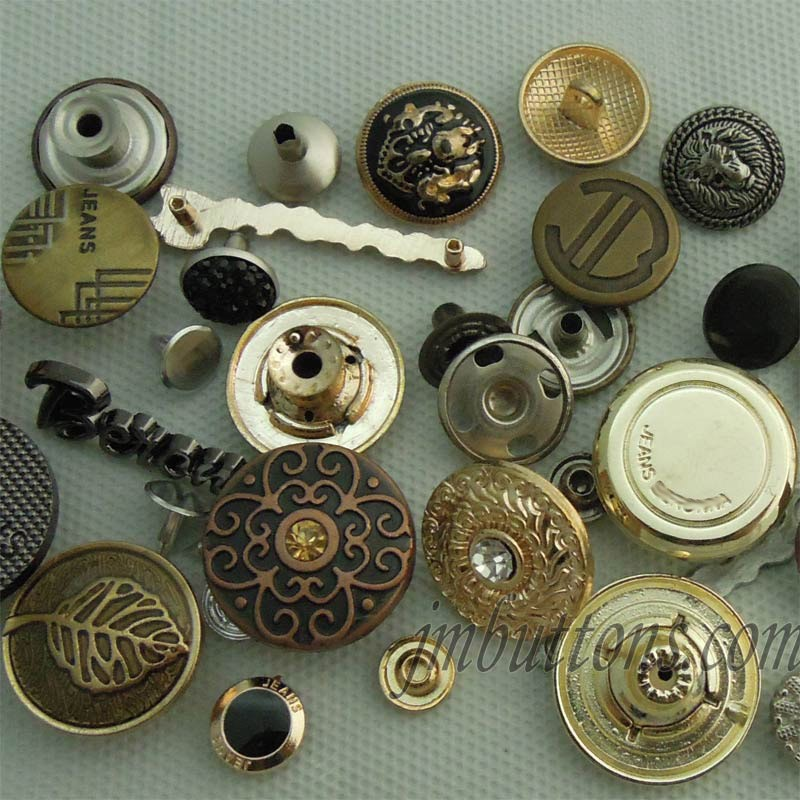 Bronze Buttons 15mm X 6 Real Metal Antique Vintage Style Tarnished Brass