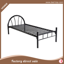 Black Single Metal Bed Frame in Strong structure Bedstead Bedroom