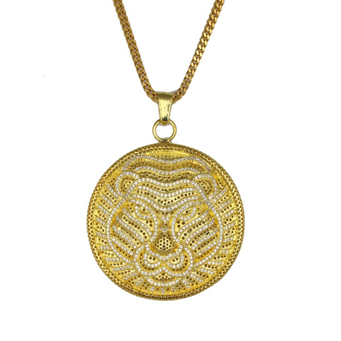 Missjewelry factory price big size18k gold plated lab diamond lion what is the pendant made of aloadofball Images