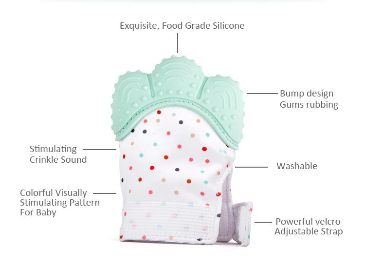 Bayi Tahan Air Baru Lahir Kustom Mengunyah Silicone Gigi Bayi Sarung Tangan Teether Sarung Tangan untuk Bayi