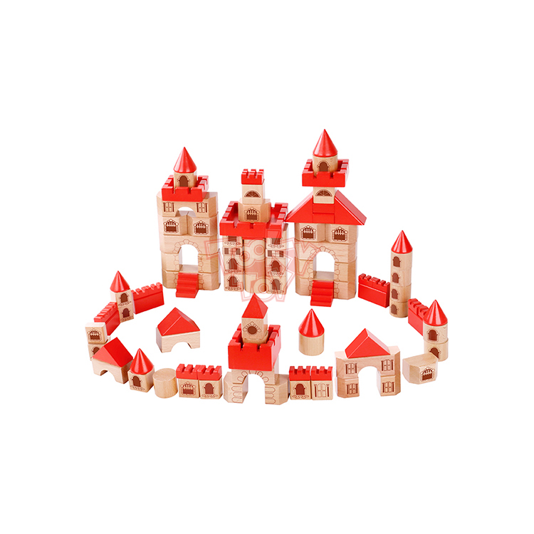 15% Fixed Discount New Design Education Castle Block- Red Wooden