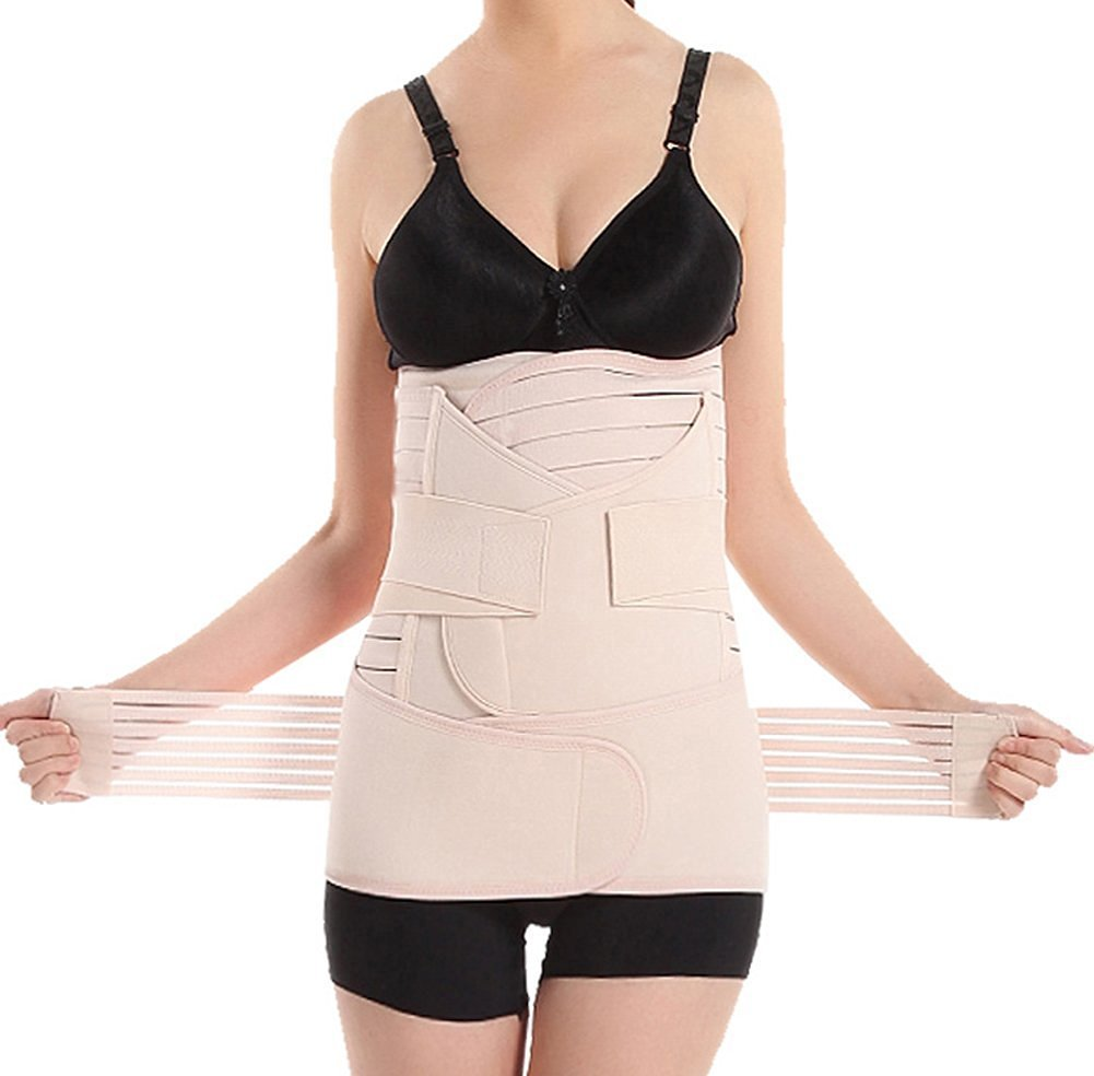 0cb30501fdf Get Quotations · 3 in 1 Women s Elastic Breathable Ventilation Postpartum  Postnatal Pregnancy Belt for Hips Waist Slimming Shaper