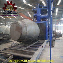Electrification projects, poles and fitting h beams shot blasting machine