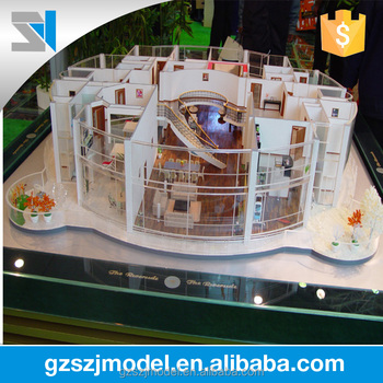 Duplex Architecture Interior Model With Scale FurnitureModern House