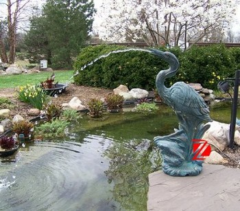 Outdoor Birds Water Fountains Decorative Garden Statue