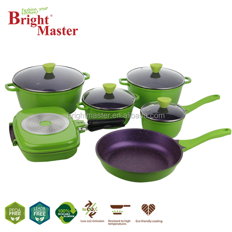 11pcs Colorful Cookware Set