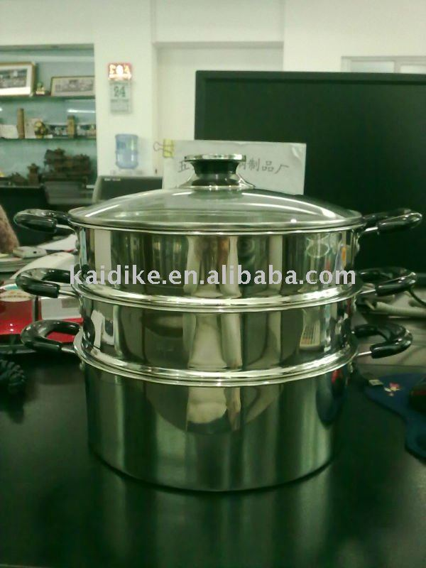 stainless steel 2 layers food steamer pot