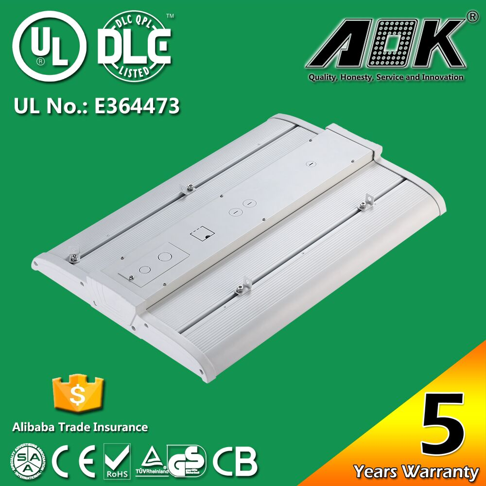 6500K High quality sensor led linear highbay 150w 130ml/w high bay light