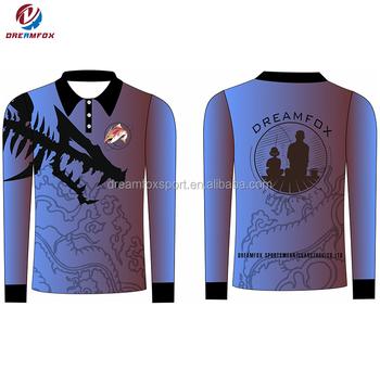 b3cfc0fd6 latest custom sublimated 100% breathable polyester fishing shirt sublimation  fishing shirt