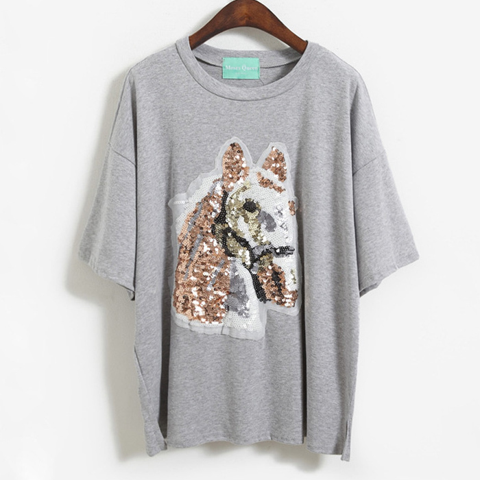 410b38fffc8d high quality 2015 casual t-shirt summer tops animal horse 3d print tee shirt  women